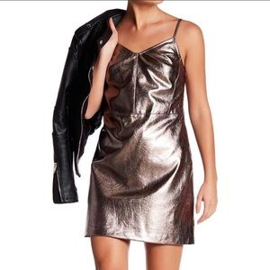 1. State Gold Vegan Leather The Curator Dress 2